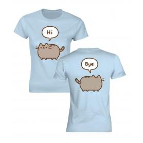 Pusheen T-Shirt femme Hi-Bye