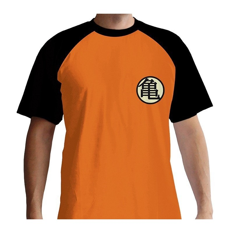 "DRAGON BALL - Tshirt ""Kame Symbol"" homme MC orange"