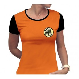 "DRAGON BALL - Tshirt ""Kame Symbol"" femme MC orange"