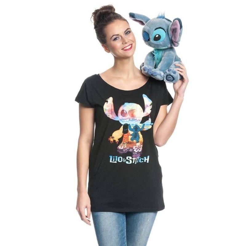 T-shirt Lilo & stitch On The Beach (femme)