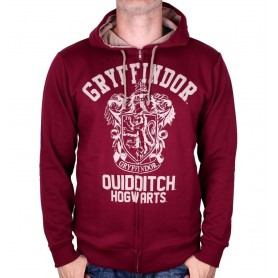 "Harry Potter - Sweat Capuche - ""Gryffindor Quidditch"""