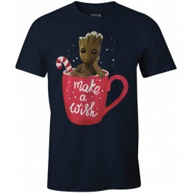 "Marvel - Guardians of the Galaxy Vol. 2 - T-Shirt Unisex - ""Groot Make A Wish"""