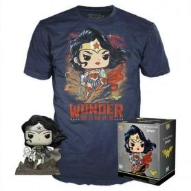 "DC Comics by Jim Lee - Funko POP! Tees - Figurine & T-Shirt ""Wonder Woman"""