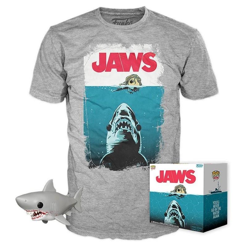 """Les Dents de la Mer - Funko POP! Tees - Figurine & T-Shirt """"Jaws"""""""