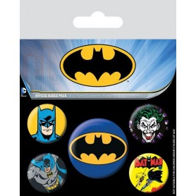 DC Comics - pack 5 badges Batman