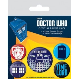 Badges Doctor Who