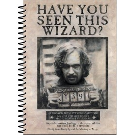 Harry Potter cahier à spirale A5 Wanted Sirius Black