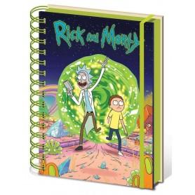 Rick et Morty cahier à spirale A5 Portal