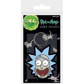 Rick et Morty porte-clés caoutchouc Rick Crazy Smile 6 cm