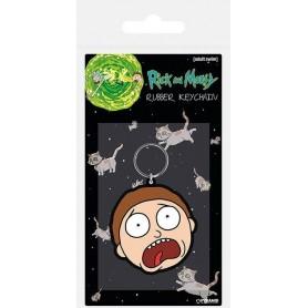 Rick & Morty porte-clés caoutchouc Morty Terrified Face 6 cm