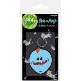 Rick & Morty porte-clés caoutchouc Mr. Meeseeks 6 cm