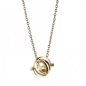Harry Potter pendentif et collier Spinning Time Turner (plaqué or)