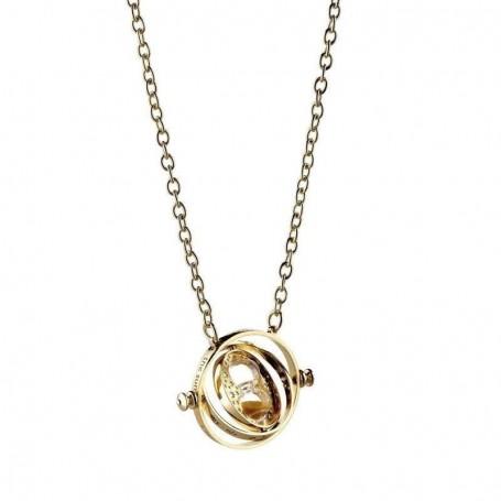 Harry Potter pendentif et collier Spinning Time Turner (plaqué or)