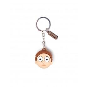 Rick et Morty porte-clés caoutchouc 3D Morty Face