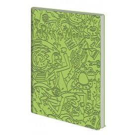 Rick & Morty carnet de notes Flexi-Cover A5 Portal Dash