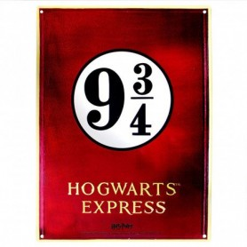 Harry Potter - Plaque métal Voie 9 3/4