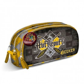 Harry Potter - Trousse ronde triple Quidditch Hufflepuff