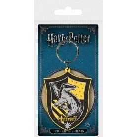 Harry Potter porte-clés caoutchouc Hufflepuff 6 cm