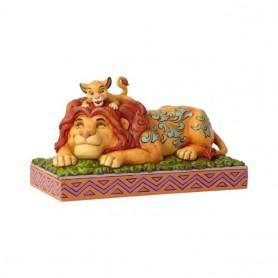 "Figurine - Le Roi Lion - ""A Father's Pride - Simba & Mufasa"""