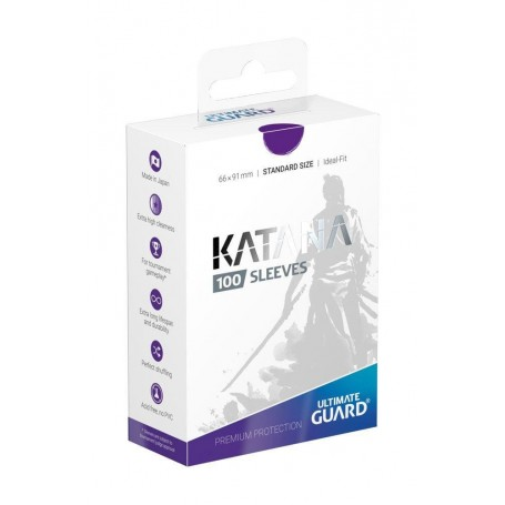 Ultimate Guard 100 pochettes Katana Sleeves taille standard Violet
