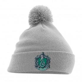 Harry Potter bonnet Pom Pom Slytherin Crest Gris