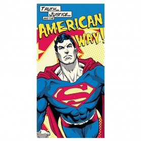"Serviette de plage DC Comics - Superman ""American Way"""