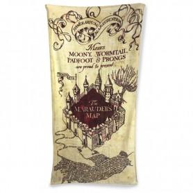 Harry Potter serviette de bain Carte du Maraudeur 150x75 cm