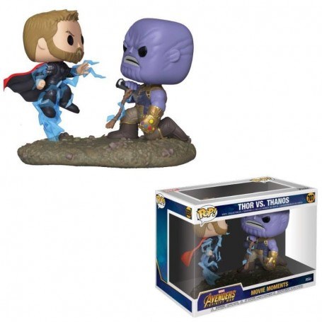 Marvel pack 2 POP! Movie Moments Vinyl figurines Thor & Thanos 9 cm