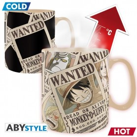 "Mug Thermosensible - One Piece ""Wanted"""