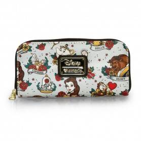 Disney x Loungefly - Beauty and the Beast Tattoo Wallet