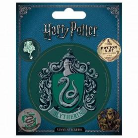 Harry Potter: pack de 5 stickers vinyl Serpentard.