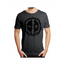 "Marvel - T-Shirt Unisex - ""Deadpool Logo Splash Head"""