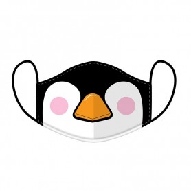Masque réutilisable pingouin