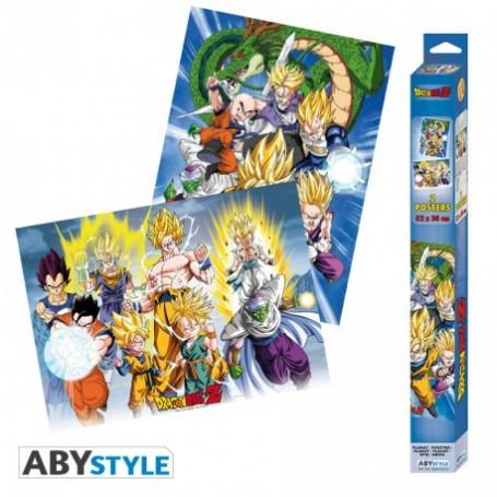 DRAGON BALL - Set 2 Chibi Posters - Groupes