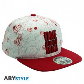 ONE PUNCH MAN - Casquette snapback- Beige & Rouge - Poings