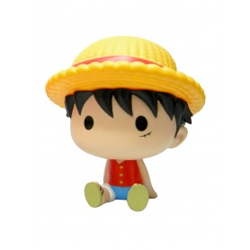 One Piece tirelire Chibi PVC Luffy 15 cm