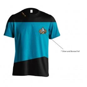 Star Trek T-Shirt Uniform Blue (L)