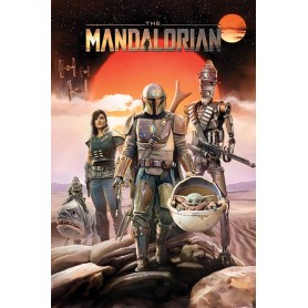 Star Wars : The Mandalorian posters Group 61 x 91 cm (5)