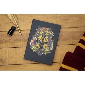 Harry Potter cahier relié Hogwarts Floral