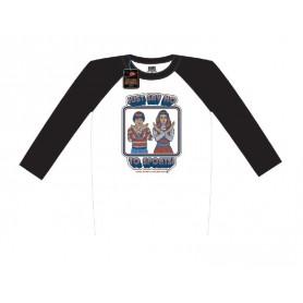 Steven Rhodes T-Shirt Baseball Raglan Just Say No To Sports (M)