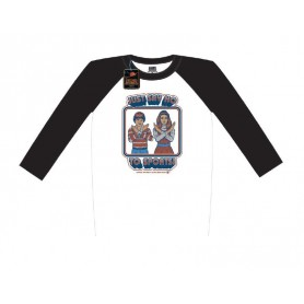 Steven Rhodes T-Shirt Baseball Raglan Just Say No To Sports (XL)