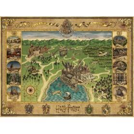 Harry Potter puzzle Carte de Poudlard (1500 pièces)