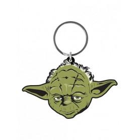 Star Wars porte-clés caoutchouc Yoda 6 cm