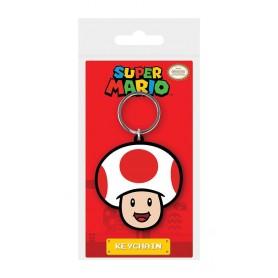Super Mario porte-clés caoutchouc Toad 6 cm