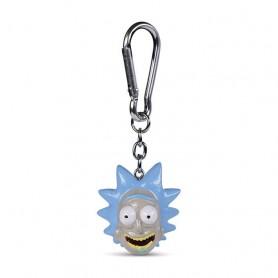 Rick et Morty assortiment porte-clés 3D Rick 4 cm (10)