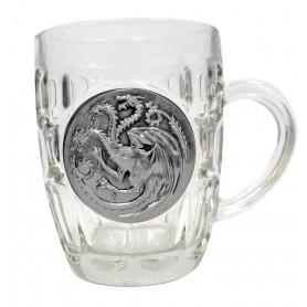 Game of Thrones chope Targaryen Metallic Logo