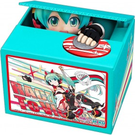 Hatsune Miku GT Project tirelire PVC Racing Miku 2020 Ver. Chatting Bank 006 12 cm