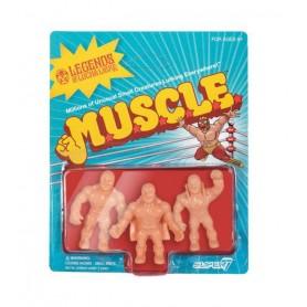 Legends of Lucha Libre pack 3 figurines M.U.S.C.L.E. Pack B 4 cm