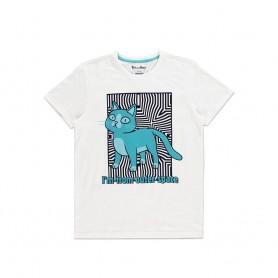 Rick et Morty T-Shirt Outer Space Cat (S)