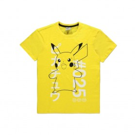 Pokémon T-Shirt Shocked Pika (L)